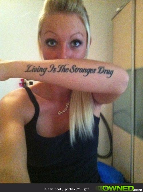 Terrible Tattoo Spelling Fails - Stronges Drug