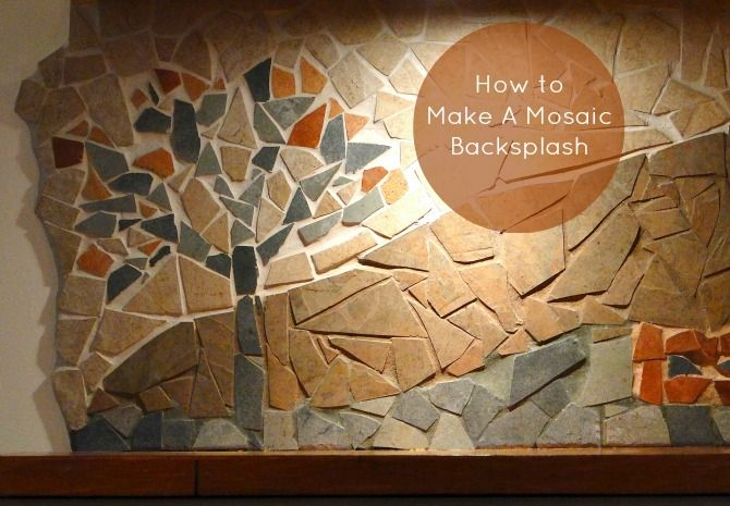 Want to learn how to make a #mosaic backsplash ? It's an easy #DIY and super inexpensive to make. Give it a try ! Read the tutorial on the blog lynneknowlton.com
