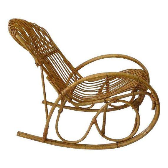 Vintage Franco Albini Style Rattan Bamboo by ScoopsVintageModern, $815 ...