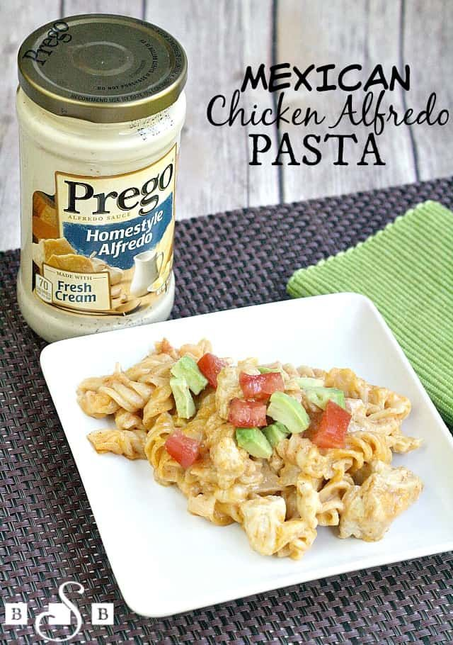 Mexican Chicken Alfredo Pasta - Butter With A Side of Bread