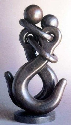 "//""I'm hooked on you"" - visually appealing. So creative!! Metal Art by Jean Pierre Augier #sculptures"