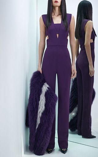 Stretch Cady Cut Out Jumpsuit by CUSHNIE ET OCHS Now Available on Moda Operandi