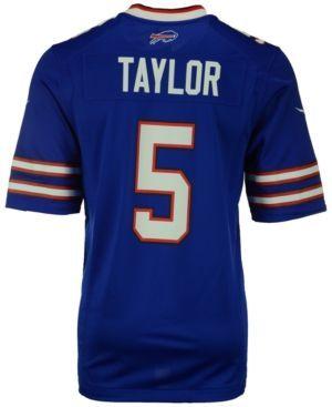 Nike Men's Tyrod Taylor Buffalo Bills Game Jersey - Blue XXL