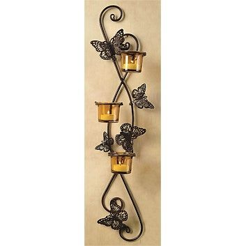 Tealight & Candle Holders - Briscoes - Candle Holder Butterfly Wall Sconce