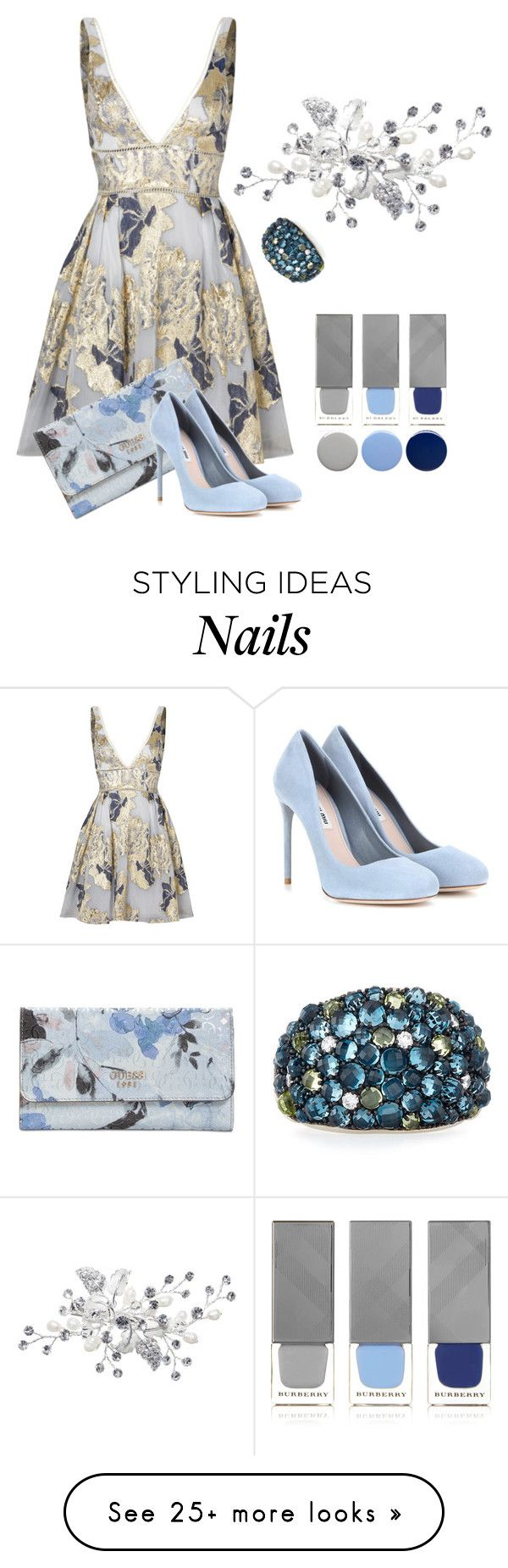 """""""Spring Contest"""" by the-vintage-palace2016 on Polyvore featuring Notte by Marchesa, David Yurman, Burberry, GUESS and Miu Miu"""