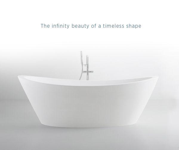 ORIGINE #bathtub #timeless #beauty #pure #shape #bathroom #white #astone