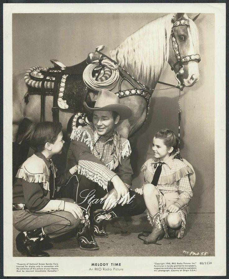 Disney Roy Rogers Melody Time Original 1940s Photo Luana Patton Bobby Driscoll