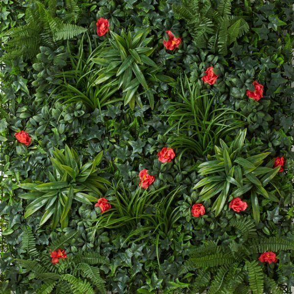 Rich Multi Flower Artificial Vertical Garden 1x1m - $89.98
