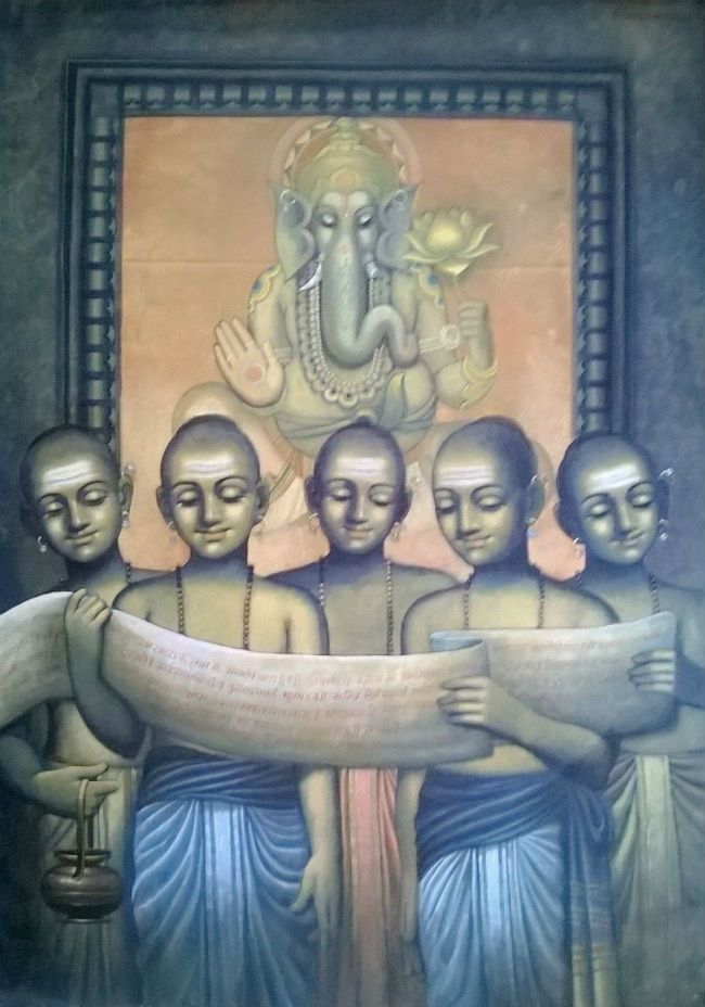 Buy Paintings Online by Artist Dnyanesh Gholap - Chidhood - CE101409