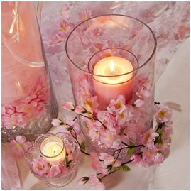 Wedding Centerpiece Ideas: Cherry Blossom Candle Holder