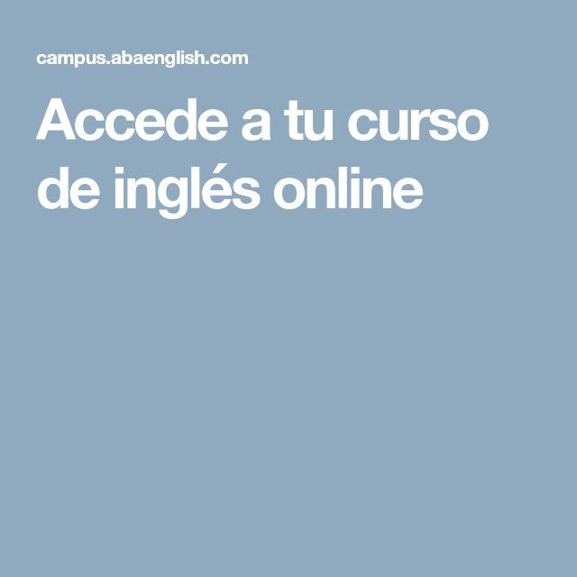 Accede a tu curso de inglés online