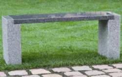 Granit Havebænk, Laura, gråsort granit