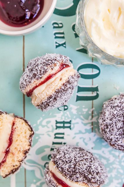 Lamington Biscuits by raspberri cupcakes, via Flickr for #AustraliaDay