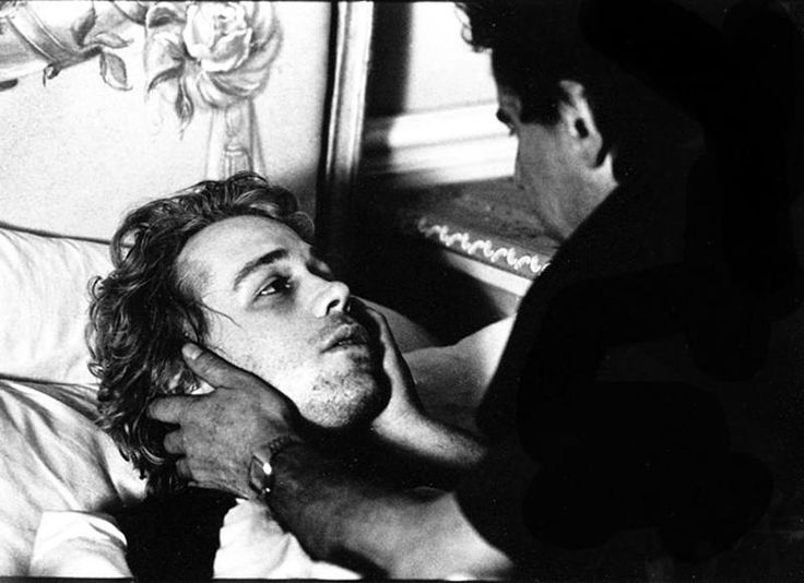 MIlos Forman directs Tom Hulce in Amadeus