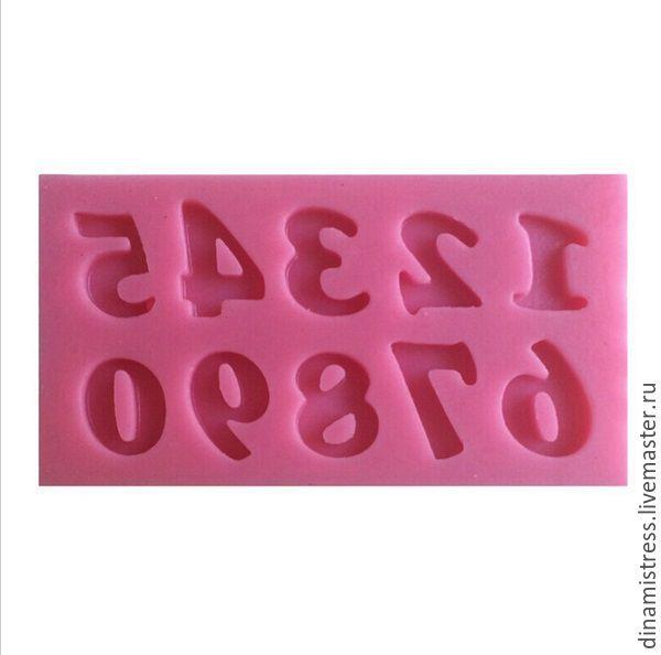 Купить Молд силиконовый Цифры - розовый, вайнер, вайнеры, молд, Молды для пластики, молды