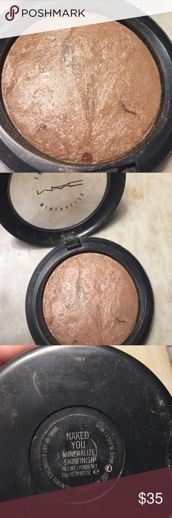 MAC Rare Mineralize Skinfinish in Naked You MAC Mineralize Skinfinish in Naked You. Product used a handful of times. Sanitized. Good condition. Gently used. Beautiful highlighter and bronzer. Rare item. MAC Cosmetics Makeup Bronzer