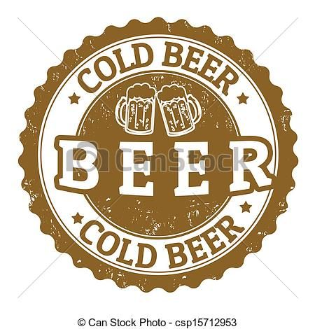 Vintage Beer Signs | Clipart Vector of Cold beer sign - Cold beer vintage sign on white ...