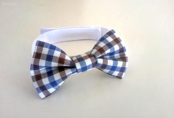 Blue and white bow tie Toddler bow tie Baby boy bow tie