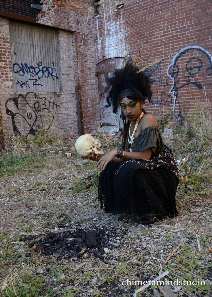 Marie Laveau Voodoo Queen working Her magic by chimeramindstudio.deviantart.com