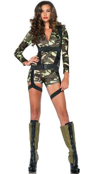 Sexy army girl...