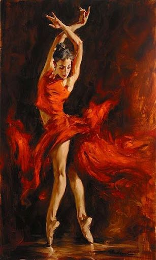 'Fiery Dance' by Andrew Atroshenko BEAUTIFUL FLAMENCO SPANISH,,,,,**++