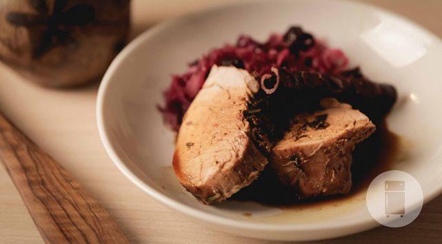 Filé de porco com vinho branco do Gastronomismo