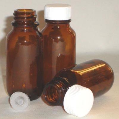 Bottles Glass Amber Round - 25ml