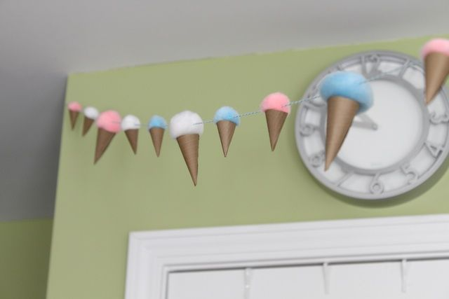 ice cream party decoration