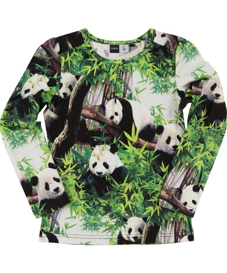 Molo trendy t-shirt met coole panda print #emilea