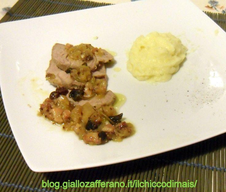 Filetto di maiale alle mele  http://blog.giallozafferano.it/ilchiccodimais/filetto-di-maiale-alle-mele/