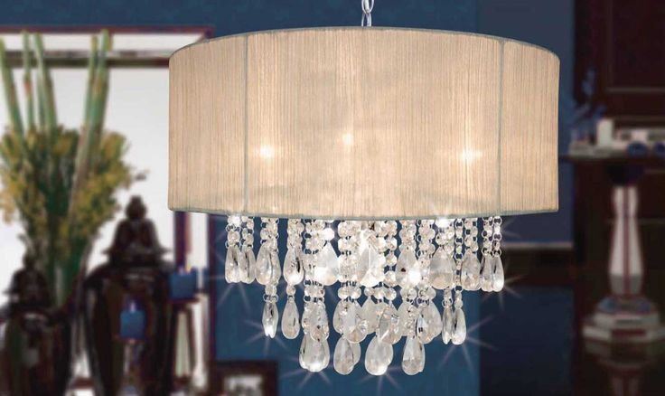 Stand out with a classy champagne chandelier  #cream #pendant #pretty