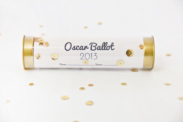 darling party idea... Printable 2013 Oscar Ballot