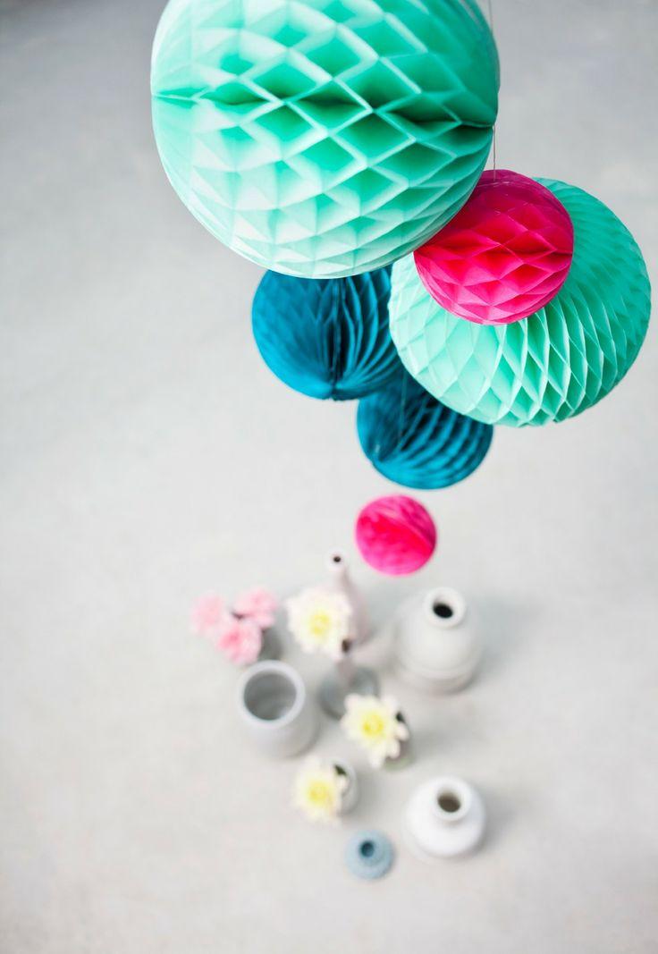 Colorfull christmas - Honeycomb paper balls - Ocean