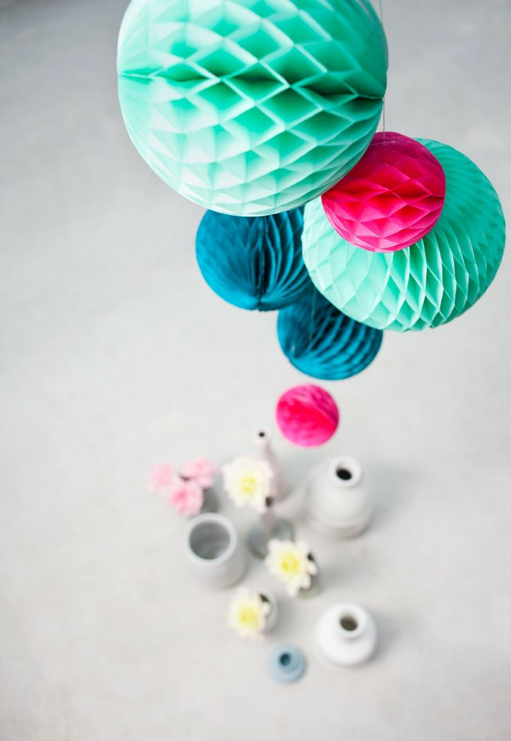 Colorfull christmas - Honeycomb paper balls - Ocean