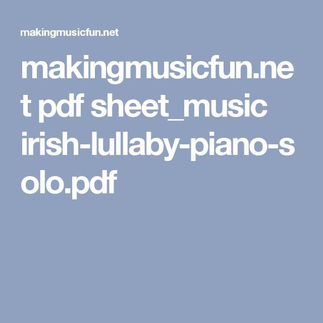 makingmusicfun.net pdf sheet_music irish-lullaby-piano-solo.pdf