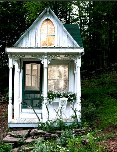 Teeny tiny, guest house: Victorian Cottage, Tinyhouse, Tiny Houses, Cottages, Place, Garden, Playhouse