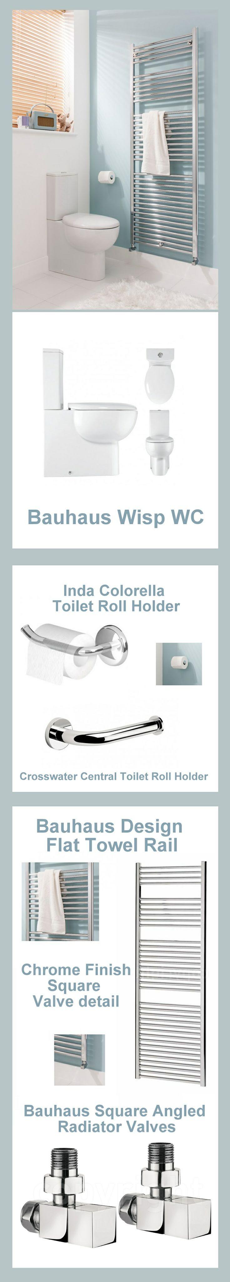 #Bathroom inspiration:  Featuring the Bauhaus Wisp WC #Duck #Egg #Blue