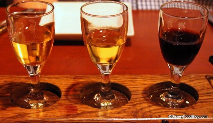 EPCOT LeCellier- Ice Wine Flight: Neige Premium Apple, Inniskillin Vidal, and Meeker FroZin