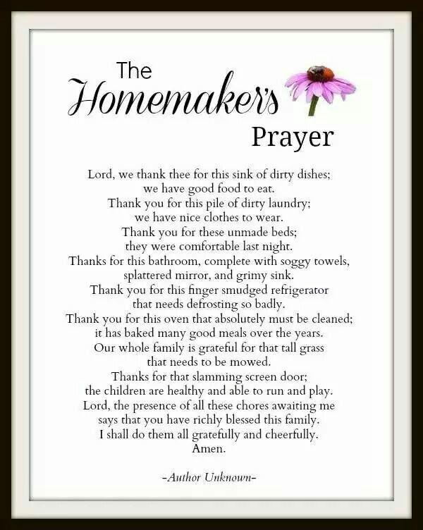 The homemakers prayer | Inspirational | Pinterest | I love