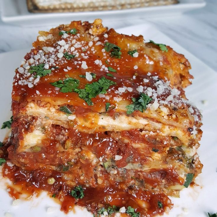 When you want Lasagna during Passover, Pressure Cooker Passover Vegetable Matzo Lasagna is a perfect vegetarian dairy meal. via @thisoldgalcooks