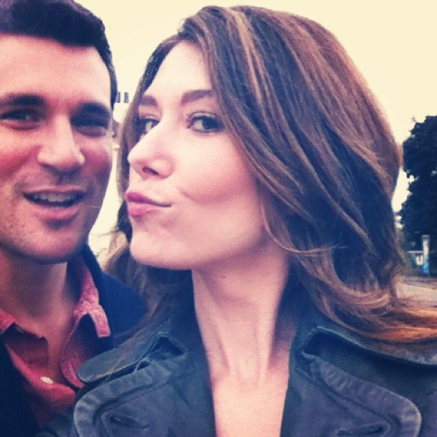 Photo of Sean Maher & his friend  Jewel Staite