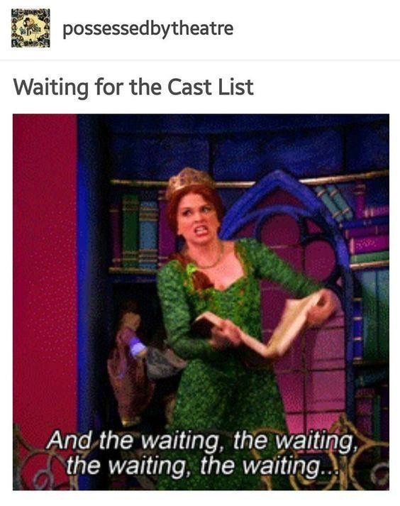 or u know tHE ANNOUNCEMENT FOR THE SPRING MUSICAL THAT WAS SUPPOSED TO BE SENT OUT LAST WEEK UGH