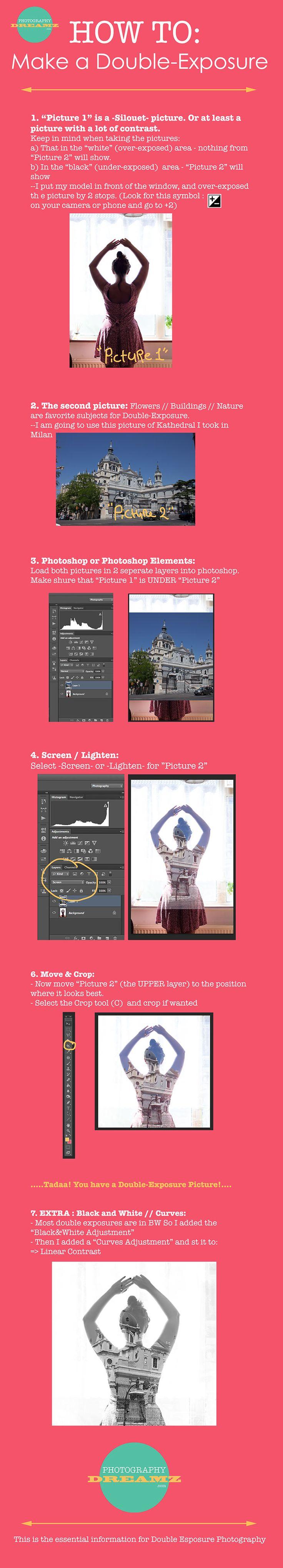 AO2 - Final piece idea + Technique idea - Double exposure tutorial - Photoshop