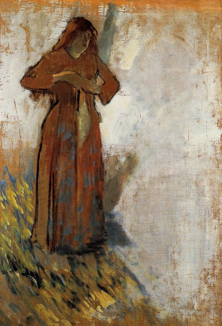 Chaos reigns — Woman with Loose Red Hair Edgar Degas