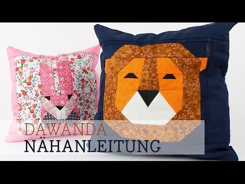 DaWanda Nähanleitung: Paper Piecing Löwe mit DIY Eule - YouTube:
