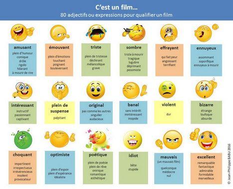 80 adjectifs ou expressions pour qualifier un film | Film and language teaching…