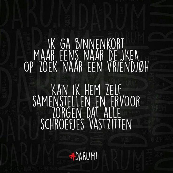 """4,893 Likes, 461 Comments - #DARUM! ❄ (@darumnl) on Instagram: """"Kastjes zoeken bij IKEA  #darum #quote #tekst #humor #herkenbaar"""""""