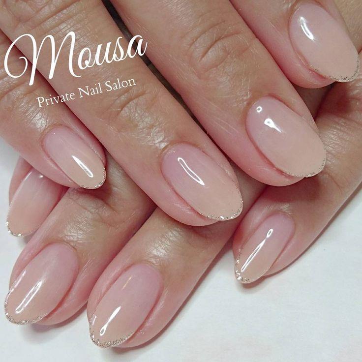 "361 Likes, 9 Comments - Private Nail Salon Mousa (@m_mogu_m) on Instagram: ""☆New Nail☆ シンプルネイル✨ ご予約お問い合わせは お気軽にご連絡下さい☺ ✉private_salon.musa@docomo.ne.jp #nail #nails…"""