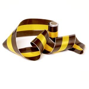 Ribbon Brown Yellow with Brown 10m Pk 1 | Party Supply | Paper Party Supplies and Goods Melbourne
