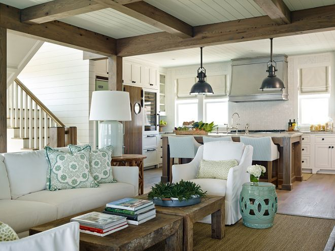 shingle style beach house with classic coastal interiors a home decor post from the blog home bunch an interior design luxury homes blog on bloglovin